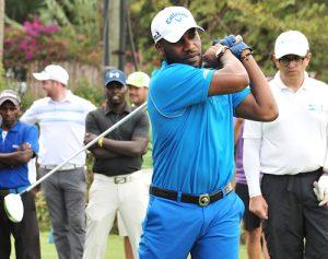 Football Legend Okocha Plays At The Kenya Open