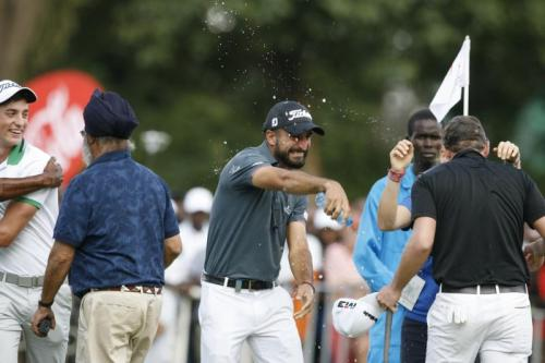 Lorenzo Gagli watered celebration T
