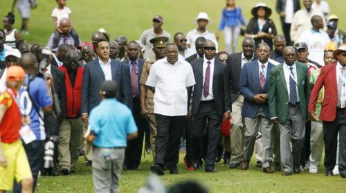 President Kenyatta at Kenya Open T
